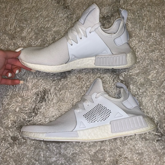 the best attitude 1e86d 6b249 Nmd XR1 All White Adidas Shoes Men